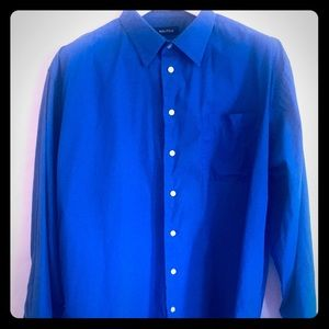 Nautica Button Down Solid Long Sleeve 18 34-35